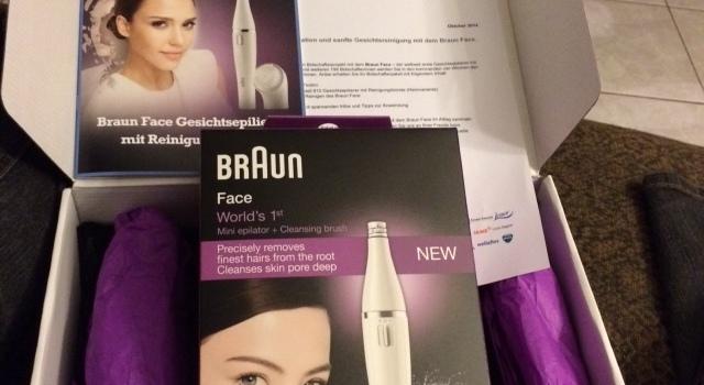 Braun Face Modell 810 Gesichtsepilierer mit Reinigungsbürste